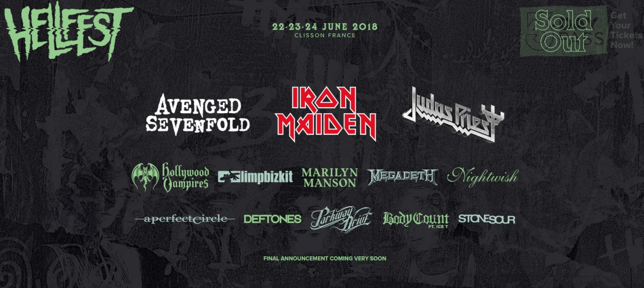 Hellfest ca commence à s'afficher !